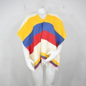 vintage native handknit poncho new shawl chimayo